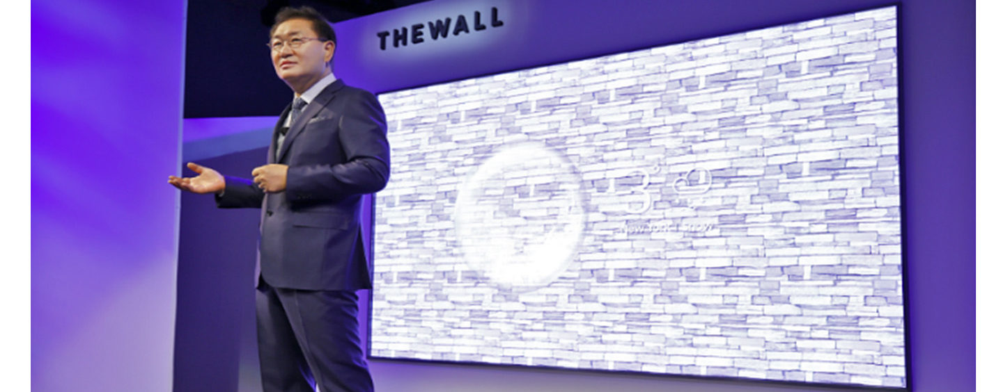"Samsung apresenta ""The Wall"" na CES, a primeira TV Modular MicroLED de 146 polegadas do mundo"