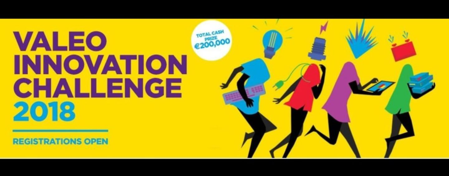 Valeo Innovation Challenge 2018 abre as inscrições